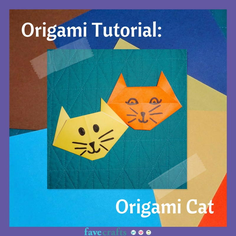 Origami Simple Cat Instructions | 800x800