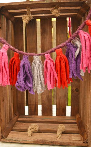 Upcycled Sweater Felt Tassels