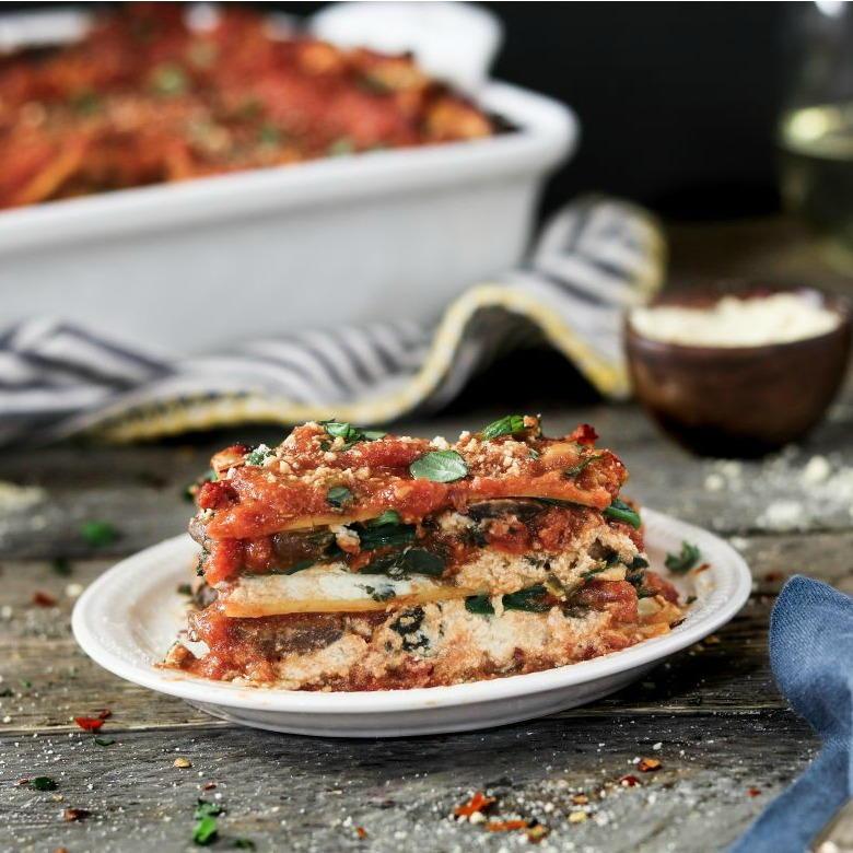 vegan spinach mushroom lasagna  favehealthyrecipes