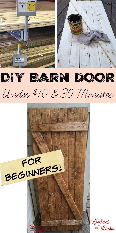 DIY Barn Door Under $10 in 30 Minutes | DIYIdeaCenter com