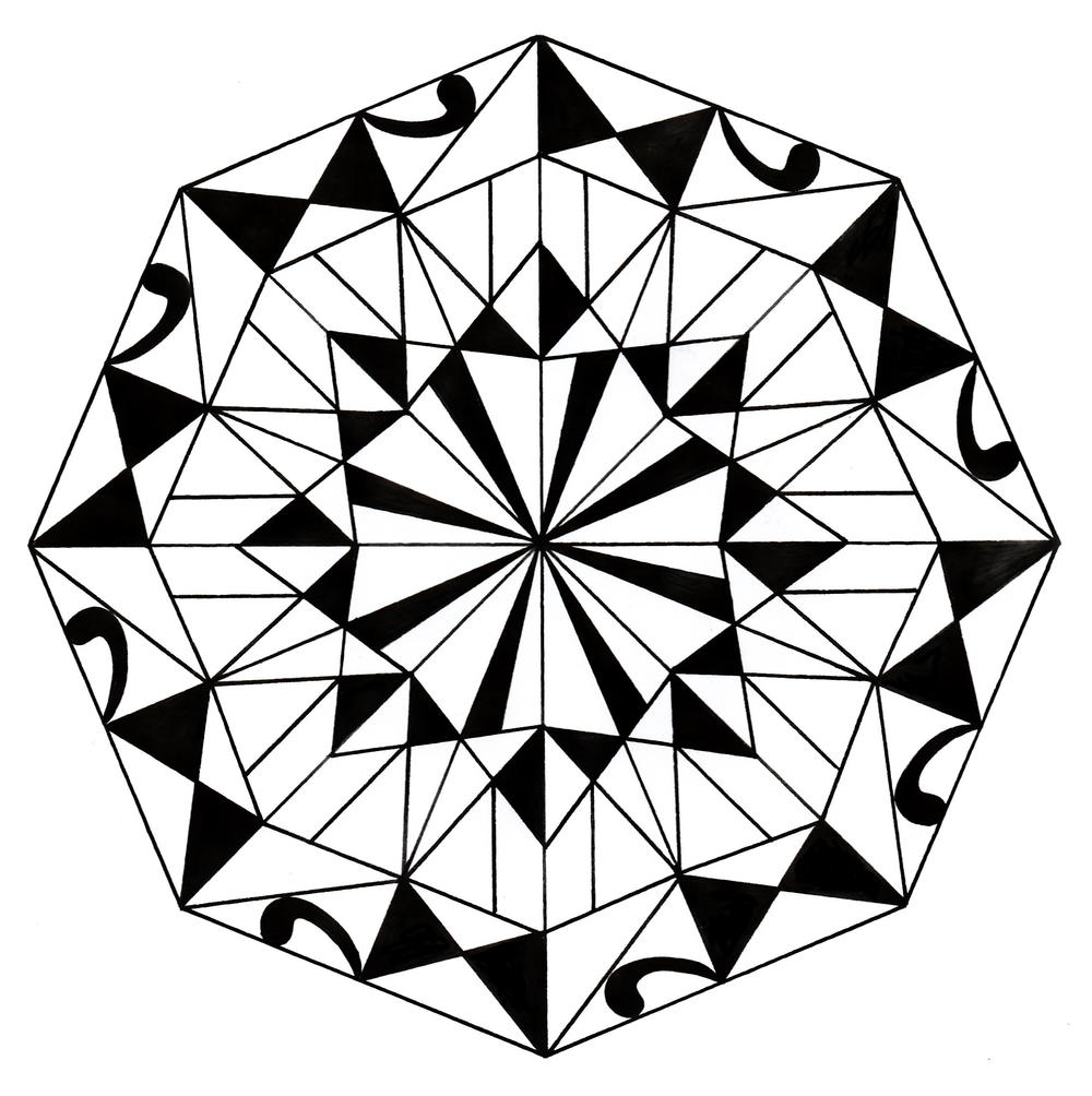 Kaleidoscope Coloring Pages | Geometric coloring pages, Pattern ... | 1004x1000
