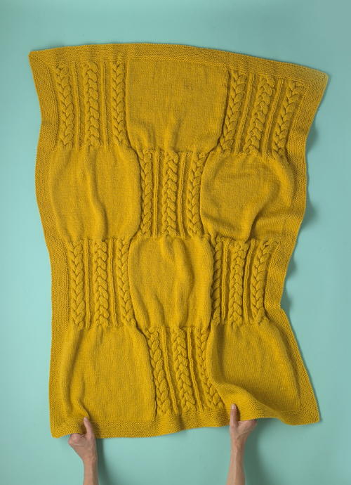 Winter Twist Free Knit Throw Pattern