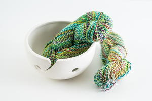 Crocodile Snap Twist Lace Silk Yarn and Ceramic Yarn Bowl Giveaway
