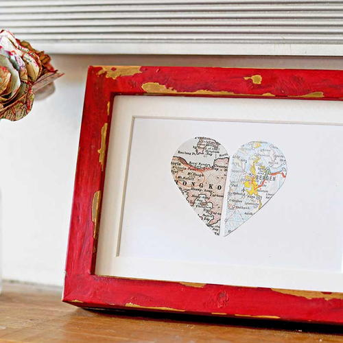 Personalized Map Gift for Couples