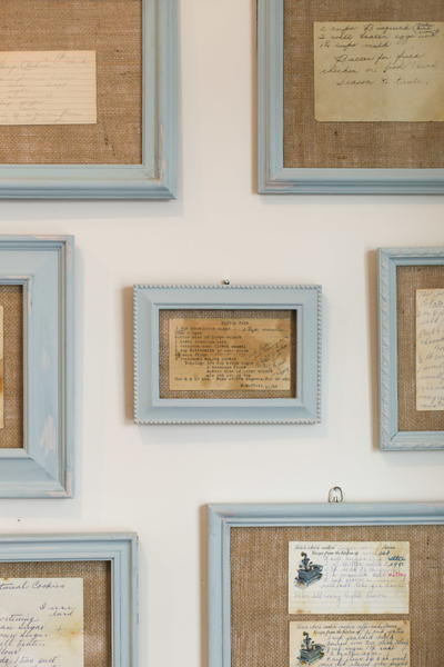Heirloom Recipes DIY Framed Wall Art