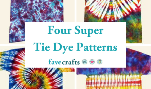 Four Super Tie Dye Patterns