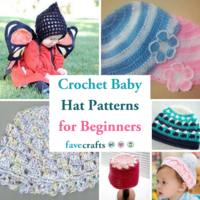 18 Crochet Baby Hat Patterns for Beginners