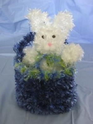 Bunny in a Basket Free Crochet Pattern