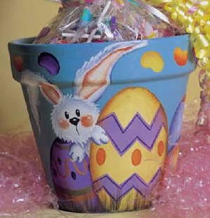 Jelly Bean and Bunny Easter Pot