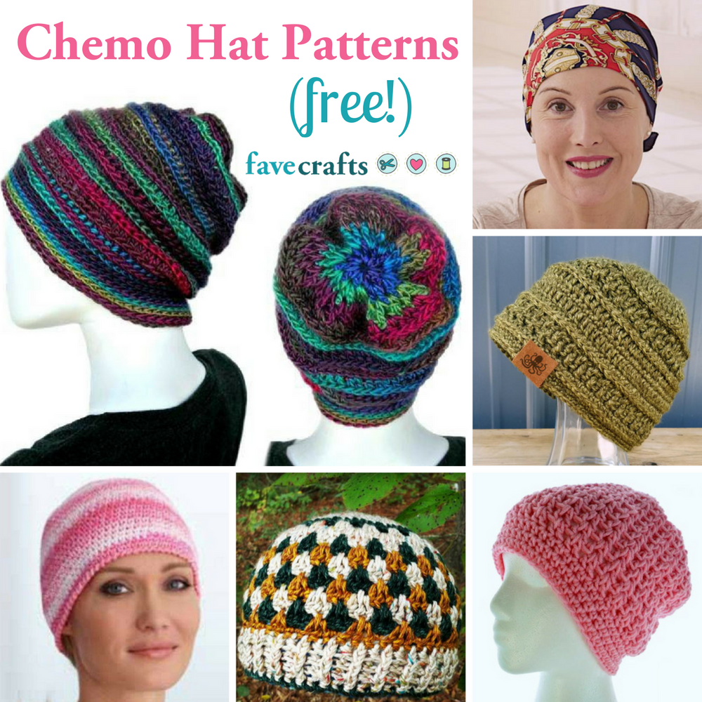 7 Free Chemo Hat Patterns  a beautiful way to show support ... c9e790adfe0