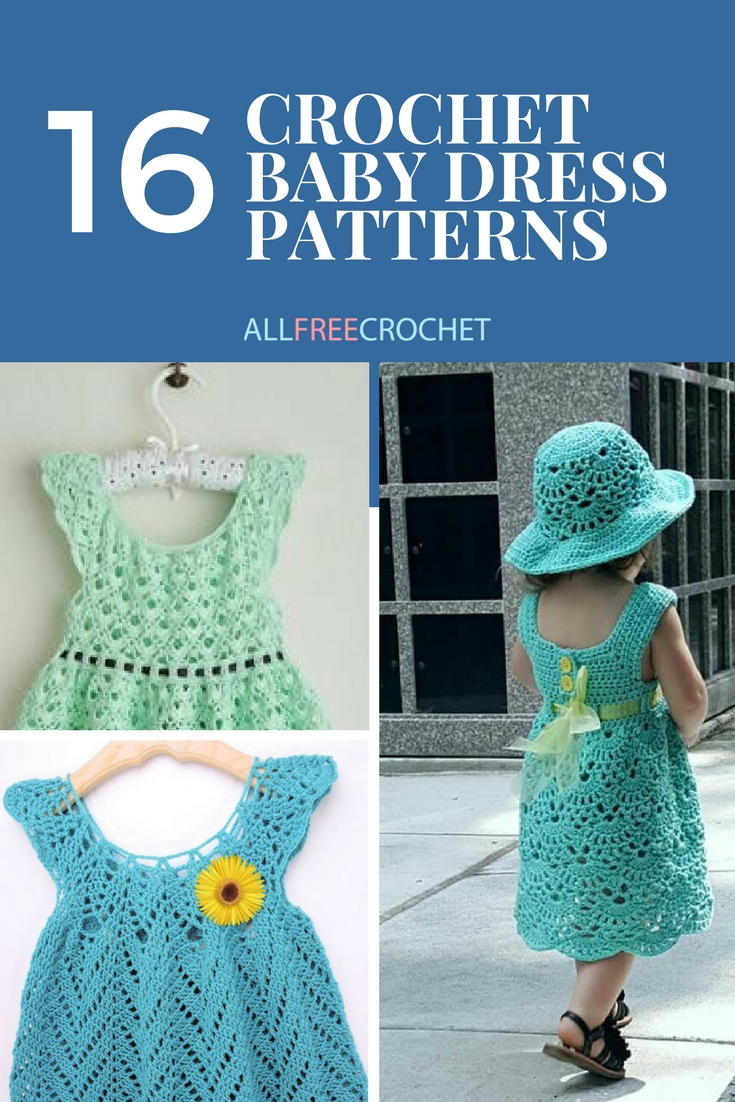 ceb119638 16 Adorable Crochet Baby Dress Patterns (Free!) | AllFreeCrochet.com
