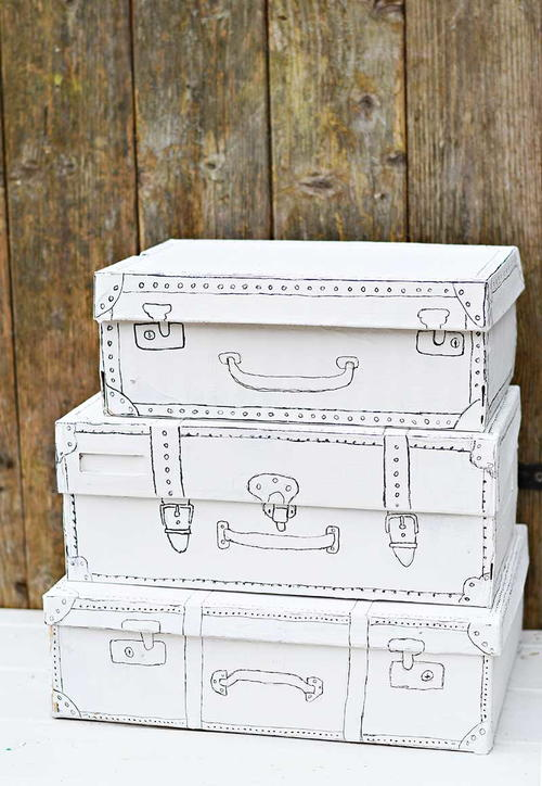 Stylish Vintage Storage from a Shoe Box