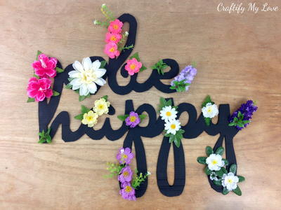 Be Happy Cardboard Sign DIY