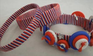 Patriotic Water Bottle Bracelet