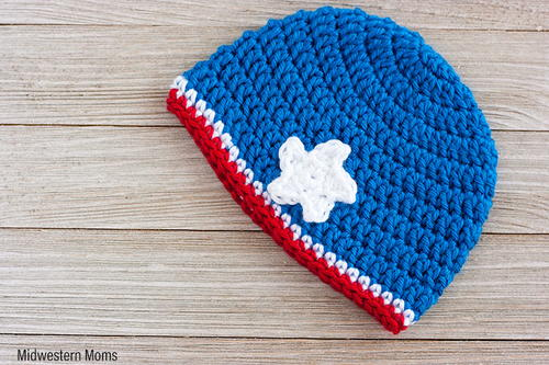 Patriotic Baby Hat Pattern For A Girl