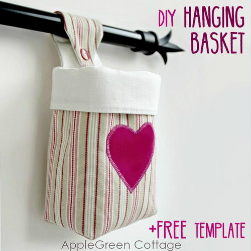 The Cutest Fabric Hanging Basket