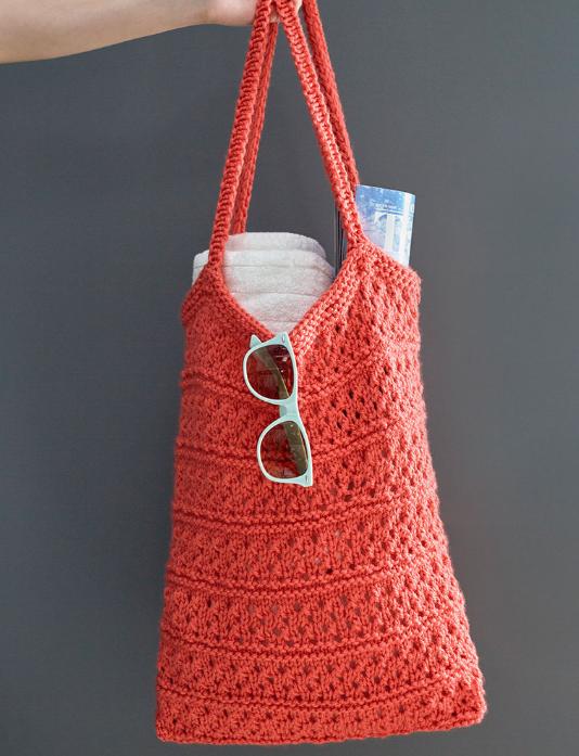 Breezy Knit Market Bag | AllFreeKnitting.com
