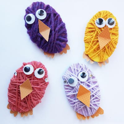 Yarn Wrapped Chicks