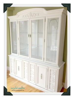 Chalked Paint Hutch and Buffet