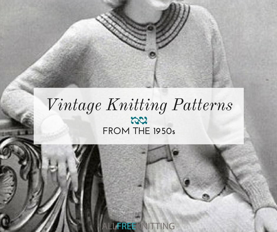 d79fefc709f2 18 Vintage Knitting Patterns from the 1950s