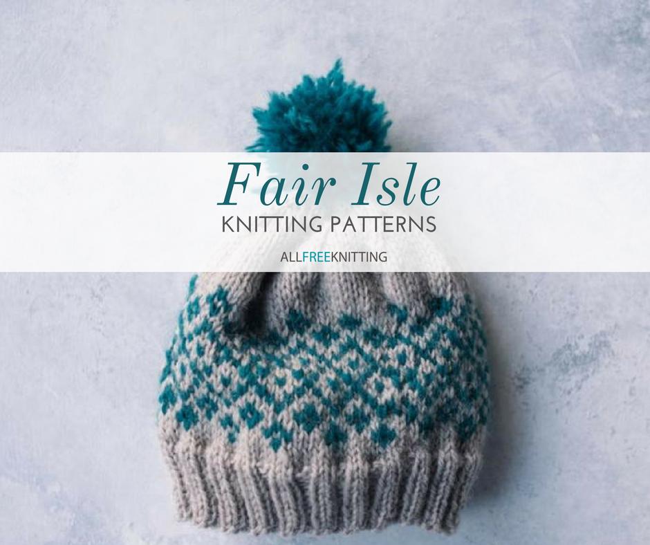 free fair isle knit hat pattern