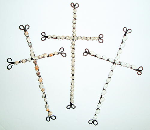 Beaded Wire Cross_2