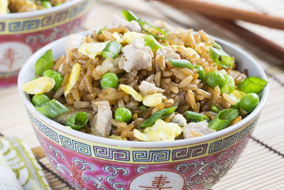 Steaming Pork Fried Rice
