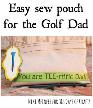 Father's Day Golf Tee Bag