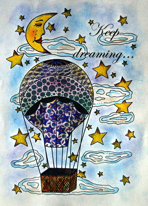 Keep Dreaming Adult Coloring Page