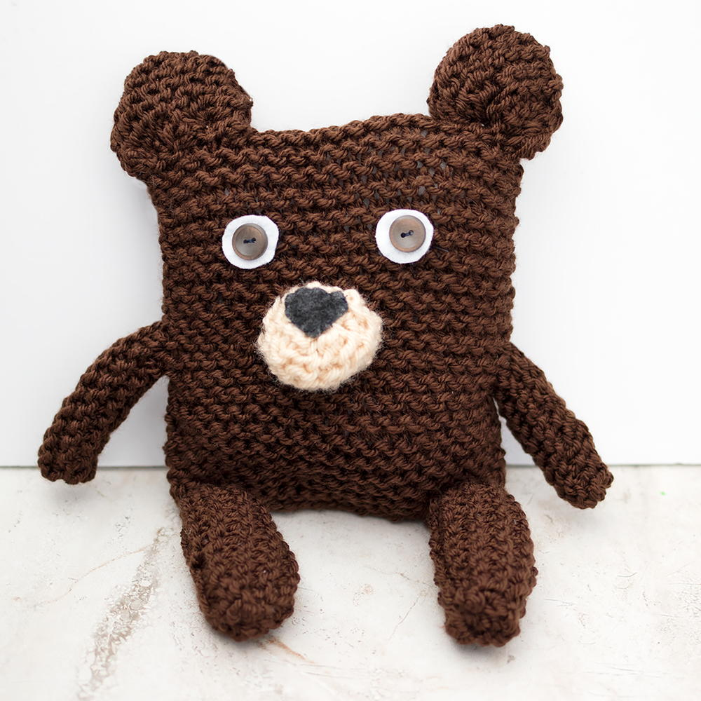 f9a6bd37a81b Square Bear Knitting Pattern. By  Gina Michele ...