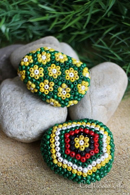 Beaded Stone Paper Weights