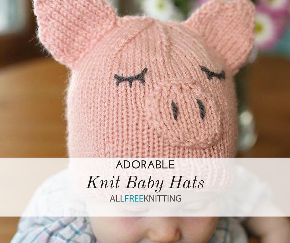 Lot de 3 Hand Knitted Baby Hat in Newborn