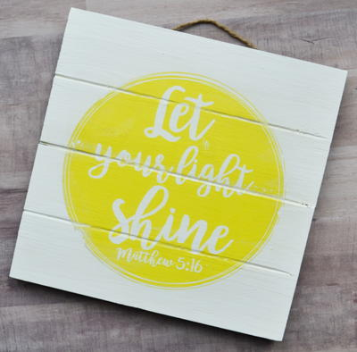 Let Your Light Shine Matthew 516 DIY Wall Art