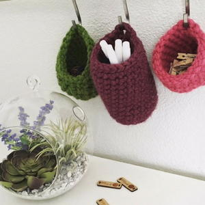 Trio of Tiny Crochet Baskets