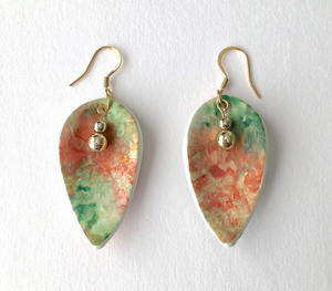 Ink and Clay Spoon Earrings