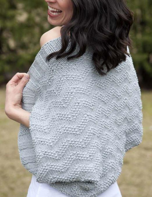 05a8ea90654a2f Chevron Knitted Bolero Pattern