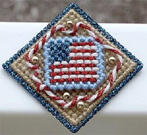 Fourth of July Flag Pin
