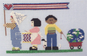 Fourth of July Marching Cross Stitch