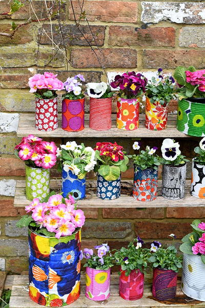 Colorful Upcycled Planters to Brighten Your Garden