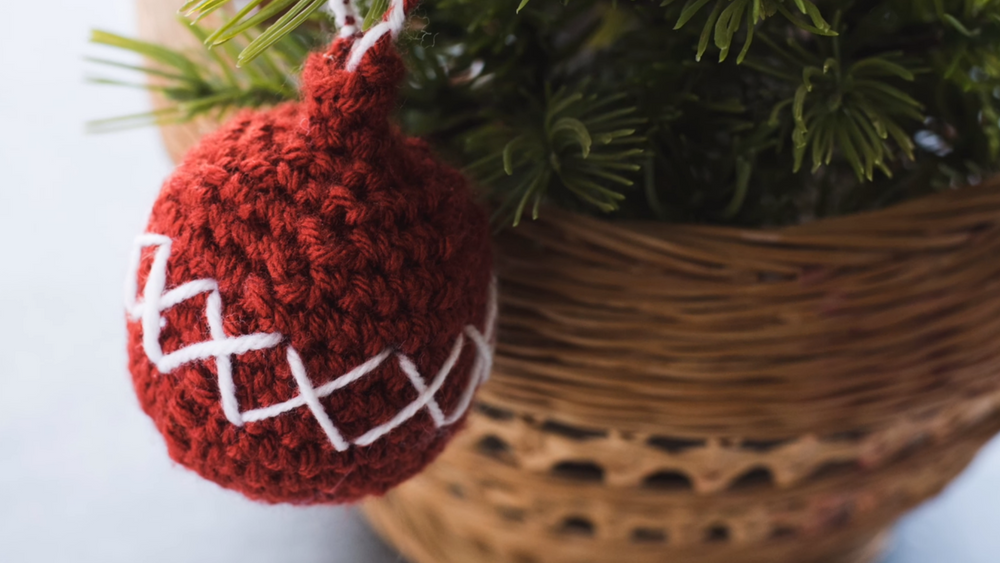 Christmas Crochet Ball Ornament Pattern Video Allfreecrochetcom