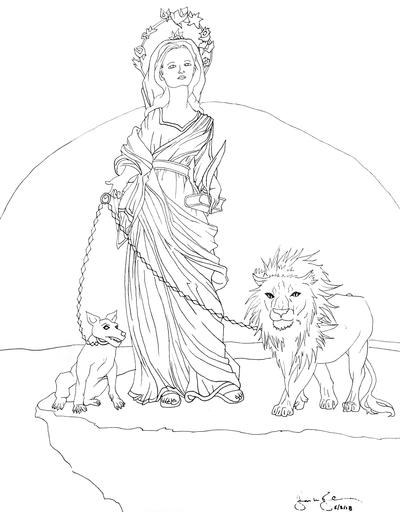 Saint Dominica Coloring Page