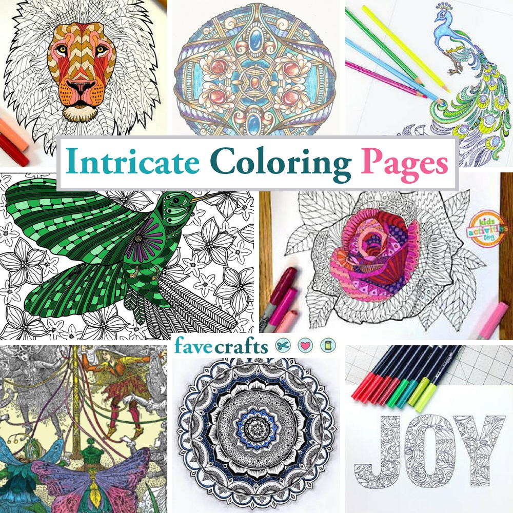 111 Intricate Coloring Pages Favecrafts Com