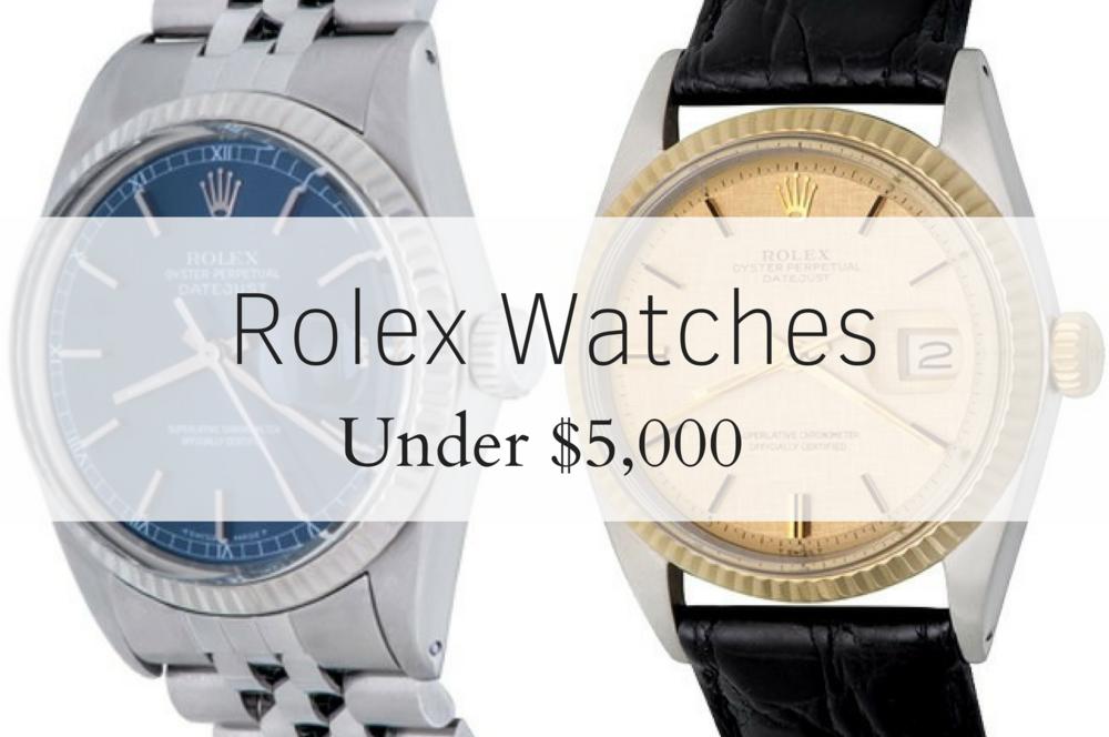 5 Elegant Rolex Watches Under $5,000 | TheWatchIndex com