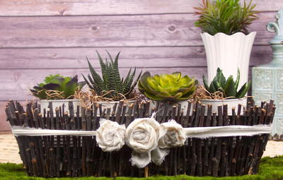 Farmhouse Chic Twig Centerpiece