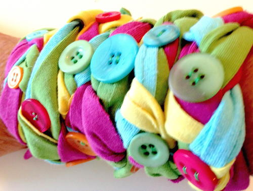 Make Bracelets Out of Recycled T-Shirts