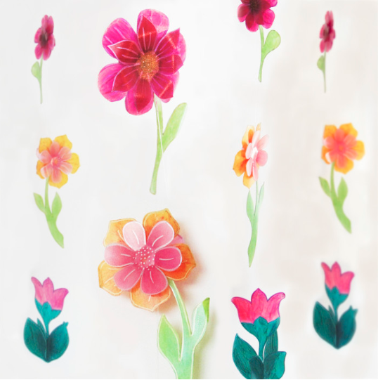Repurposed Plastic Jug Flower Garlands