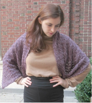 Broomstick Lace Crochet Prayer Shawl Pattern