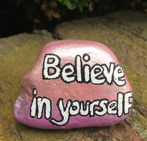 Motivational Painted Rock Paper Weights