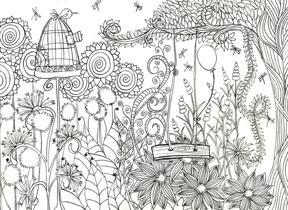 Garden Coloring Pages » Beautiful Garden Coloring Pages For Free   730x1000
