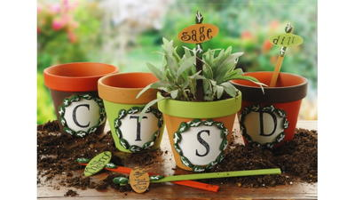 DIY Summer Herb Pots and Plant Markers